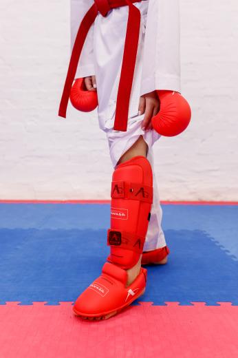 Фото Захист гомілка+стопа Arawaza червоний XS-XL