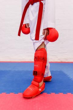 Фото Захист гомілка+стопа Arawaza red XS-XL